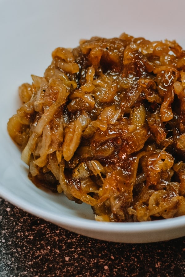 Caramelized onions on a plate