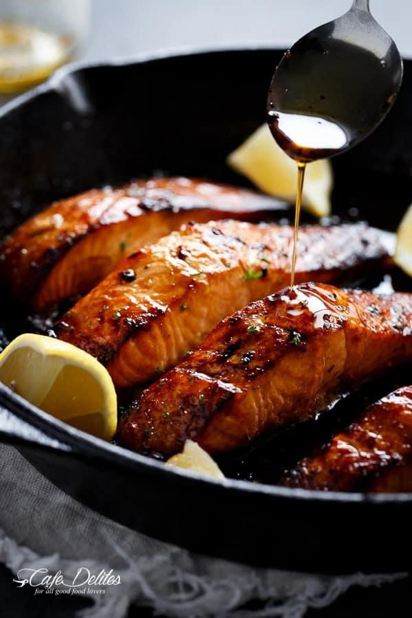 Browned Butter Honey Garlic Salmon
