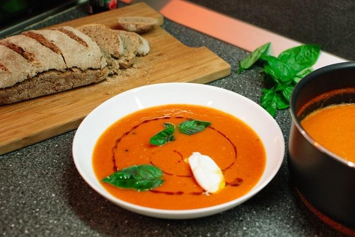 Delicious homemade tomato soup