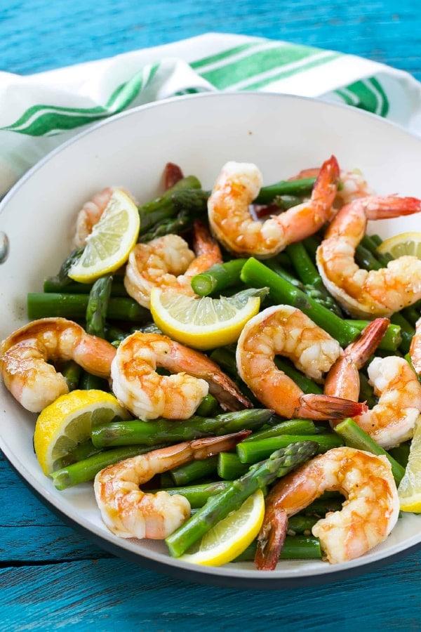 Easy Lemon Asparagus Shrimp Recipe