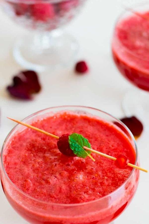 Sparkling Raspberry Grapefruit Mocktail