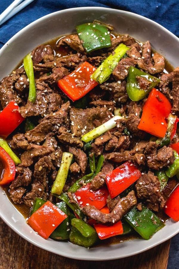 Instant Pot Asian Pepper Beef