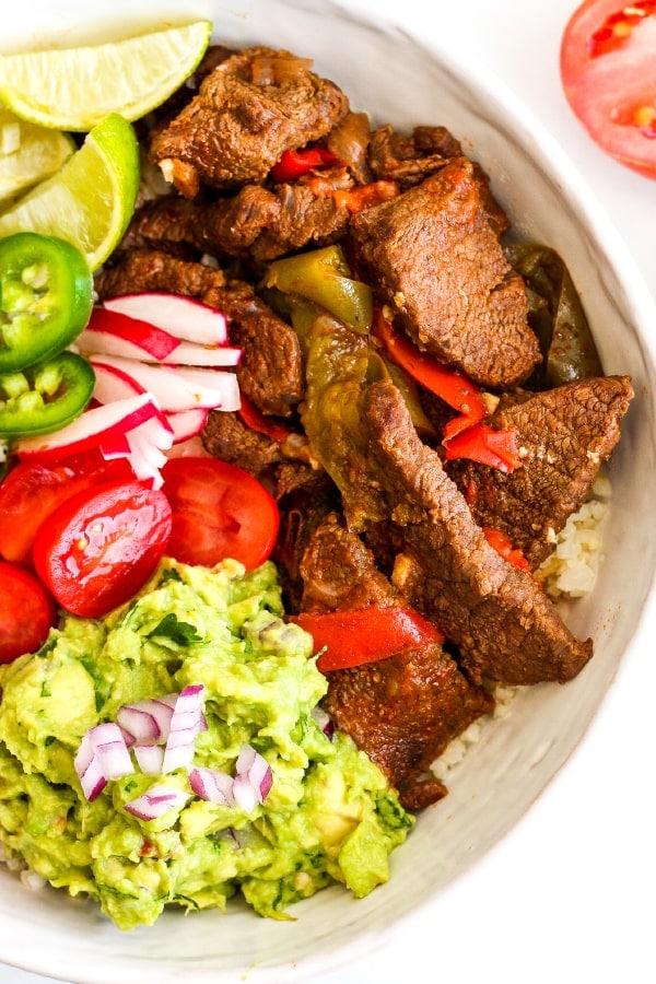 Instant Pot Steak Fajita Bowls