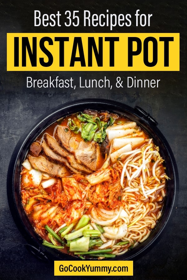 Best recipes to cook into your Instant Pot for Breakfast, lunch and dinner